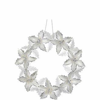 Glitter Flower Wreath