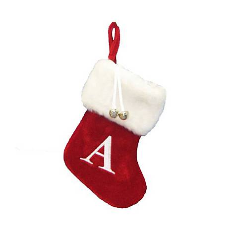 Letter A Hanging Tree Stocking, ${color}