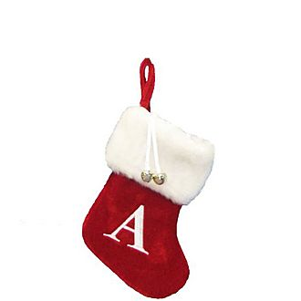 Letter A Hanging Tree Stocking