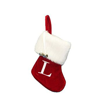 Letter L Hanging Tree Stocking