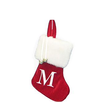 Letter M Hanging Tree Stocking