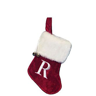 Letter R Hanging Tree Stocking