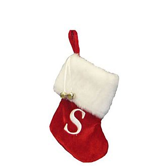 Letter S Hanging Tree Stocking