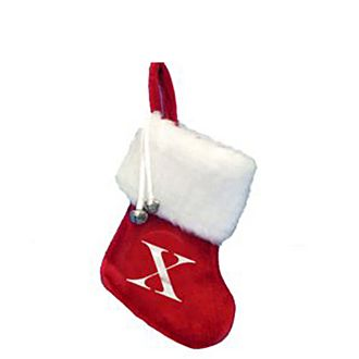 Letter X Hanging Tree Stocking
