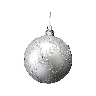 Glitter Leaf Bauble