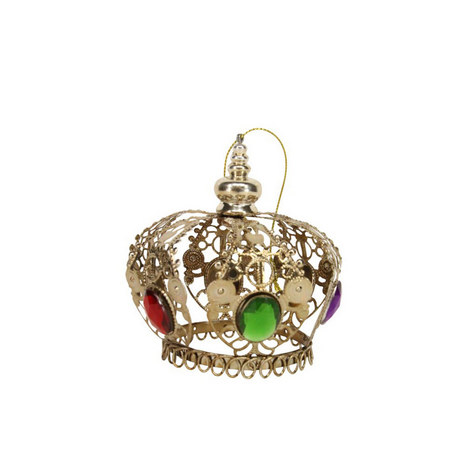 Jewelled Crown Tree Decoration, ${color}