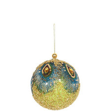 Bead & Feather Bauble