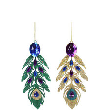 Hanging Feather Tree Decorations