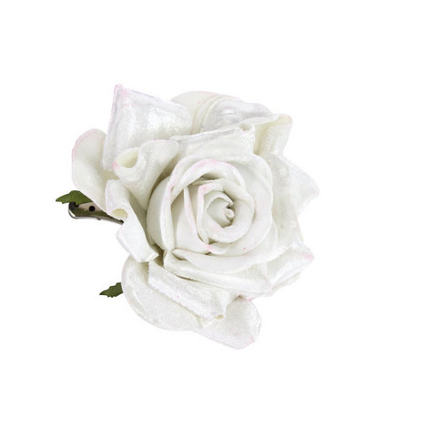 Floral Rose Clip Decoration, ${color}