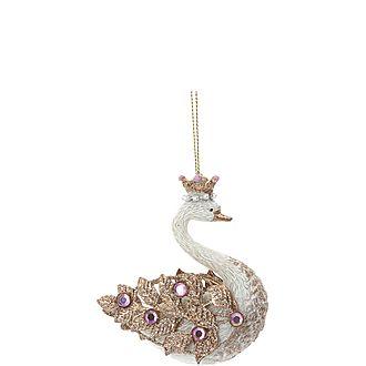Diamante Swan Decoration