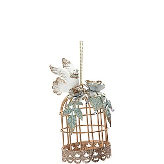 Dove With Cage Decoration