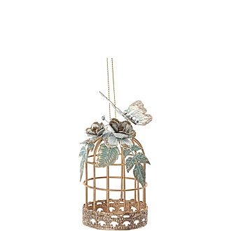 Bird Cage & Butterfly Decoration