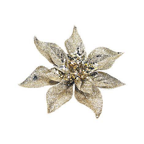 Glitter Poinsettia Clip Tree Decoration, ${color}