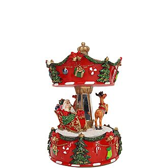 Santa Sleigh Carousel Decoration