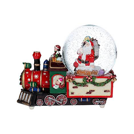 Santa Dome Train Ornament, ${color}