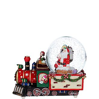 Santa Dome Train Ornament