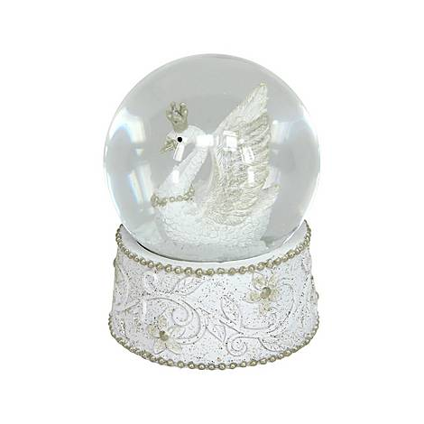 Swan Medium Snow Globe, ${color}