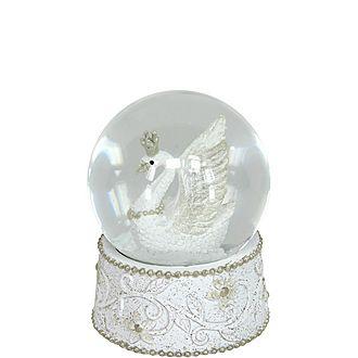 Swan Medium Snow Globe