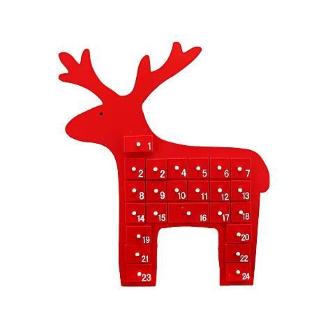 Reindeer Decorative Advent Calendar, ${color}