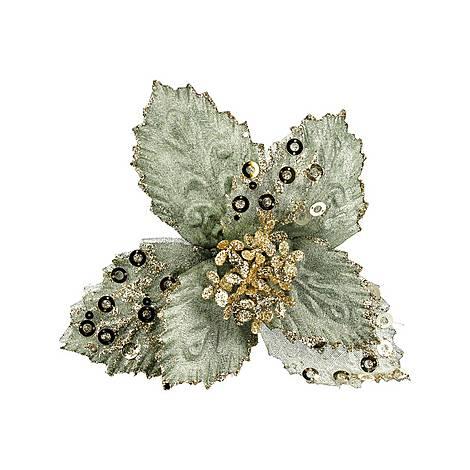 Sequin Poinsettia Pick, ${color}