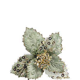 Sequin Poinsettia Pick