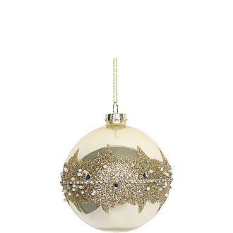 Diamante & Glitter Bauble