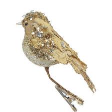 Glitter Bird Christmas Decoration