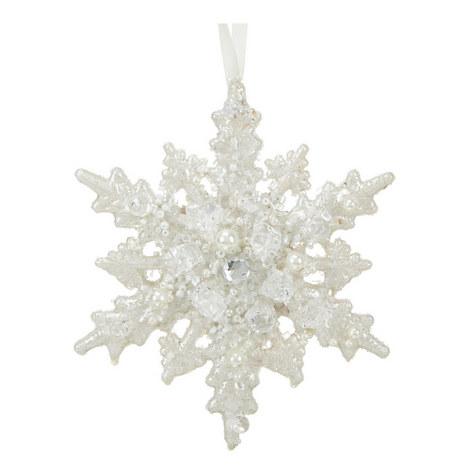 Bead Snowflake Tree Decoration, ${color}