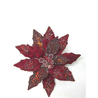Poinsettia Clip Tree Decoration