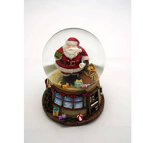 House & Santa Musical Snow Globe, ${color}