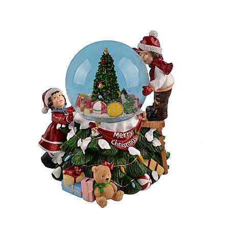 Children with Christmas Tree Snow Globe, ${color}