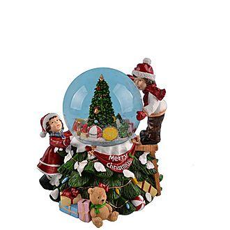 Children with Christmas Tree Snow Globe