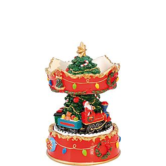 Christmas Tree Carousel Music Box