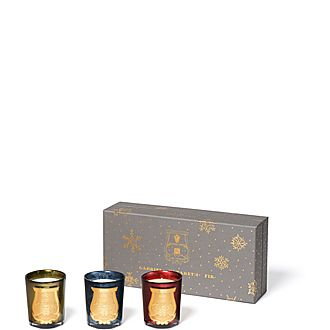 Set of Three Noel Candles
