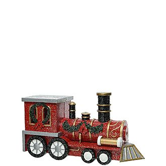 Glitter Train Tree Decoration