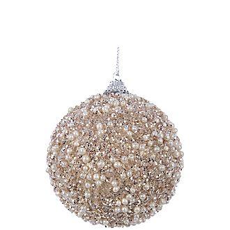 Glitter Bead Bauble