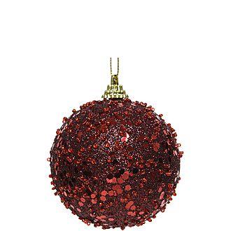 Glitter Bauble Tree Decoration
