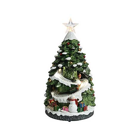 LED Light-Up Decorative Tree with Train, ${color}