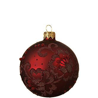 Matte Floral Bauble Tree Decoration