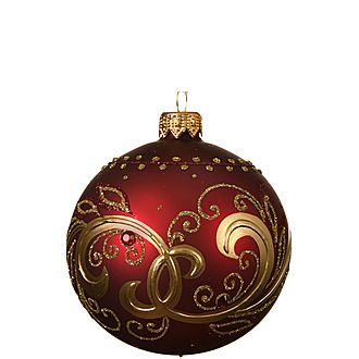 Classic Curl Bauble Tree Decoration