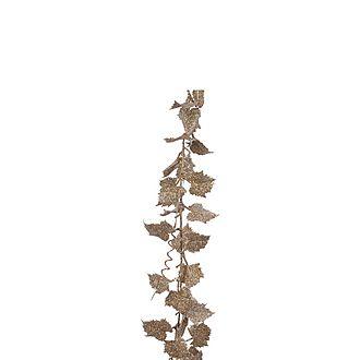 Glitter Leaf Garland