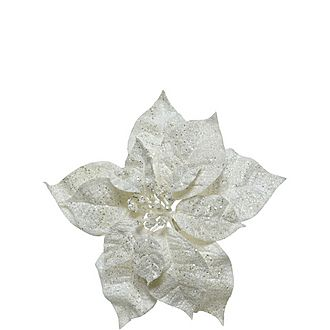 Sheer Poinsettia Clip-On Decoration
