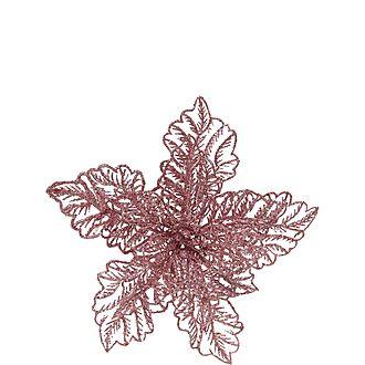 Poinsettia Clip-On Decoration