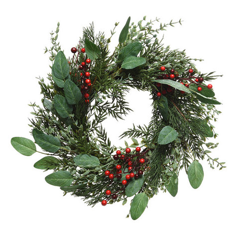 Berry Leaf Wreath, ${color}