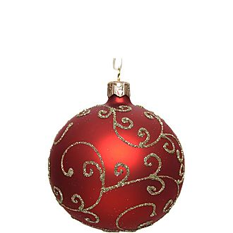 Matte Curl Bauble Tree Decoration