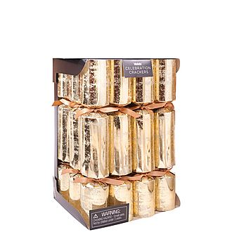 12-Piece Gold Christmas Crackers