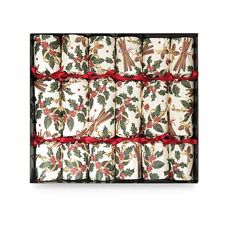 6-Piece Winter Spice Christmas Crackers, ${color}