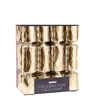 Gold Diamond Motif Christmas Crackers