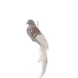 Feathered Bird Tree Decoration