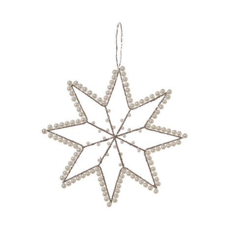 Wire Star Hanging Tree Decoration 15cm, ${color}